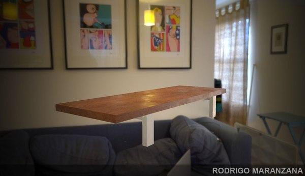 wooden shelf 4k 3D model