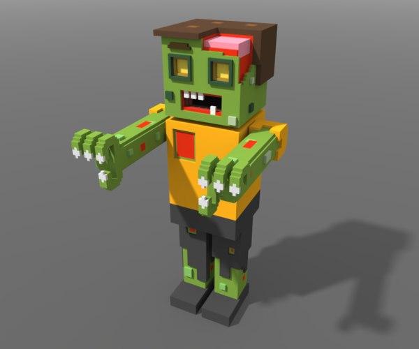 voxel zombi model