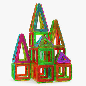 magnetic designer toy house model