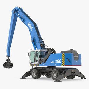handler terex fuchs mhl360 3D model
