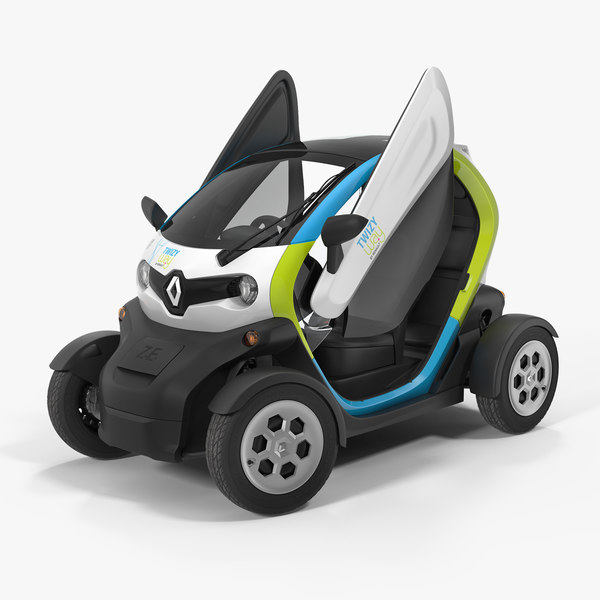 3D renault twizy 2018 rigged