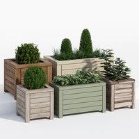 prestige contemporary planter 3D