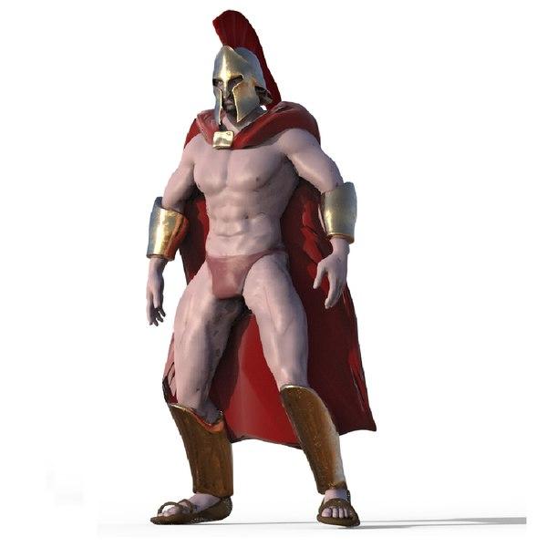 3D spartan character model