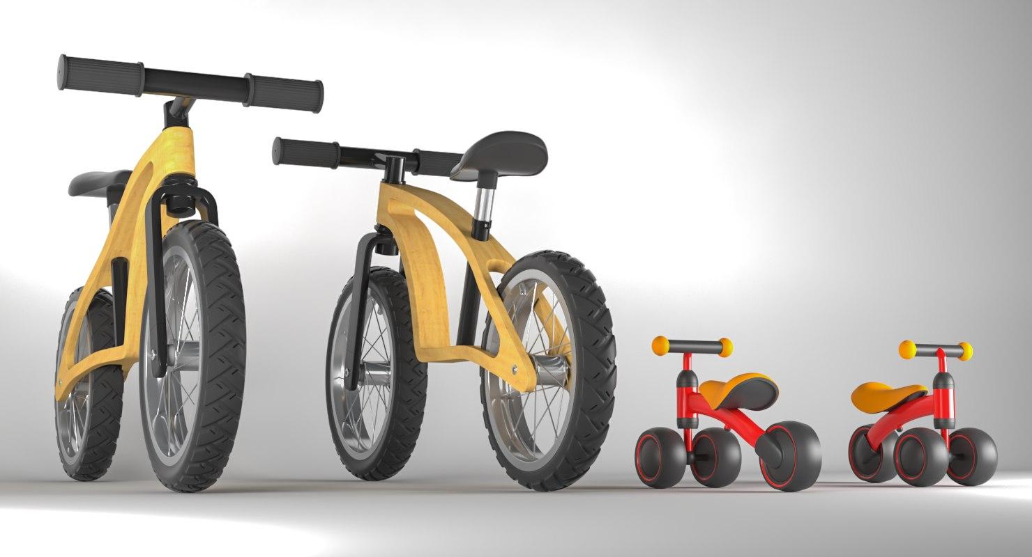 3D scool pedex bike wheel model