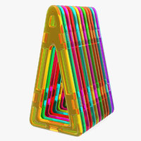 Magnetic Stretched Triangles 3D Models Set