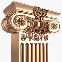 pilaster x1 3D model