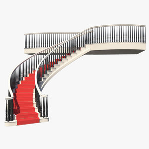 3d model of staircase spiral stair