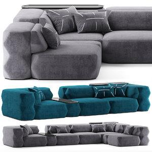 modular armchair 3D model