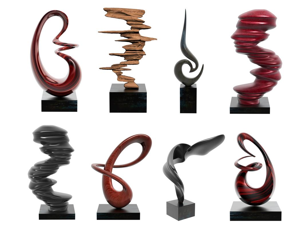 3D modern abstract sculpture decoration