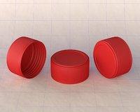 3D cap plastic model