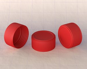 3D cap plastic model