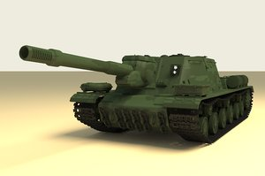 isu-152 russian tank 3D model