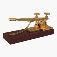 antique telegraph key model