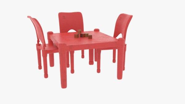 3D model child table