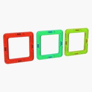 magnetic designer colored rectangles 3D model