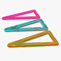 Magnetic Designer Stretched Triangles 3D Model