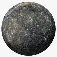 3D mercury planet