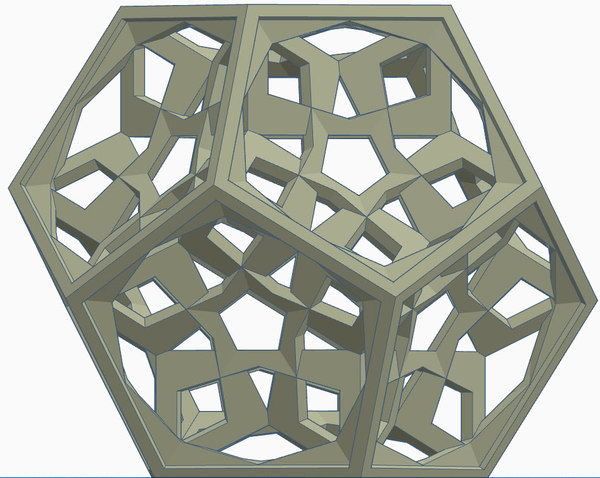 3D dodecahedron