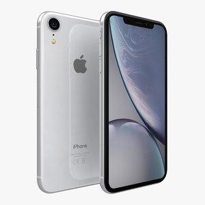 3D apple iphone xr white model