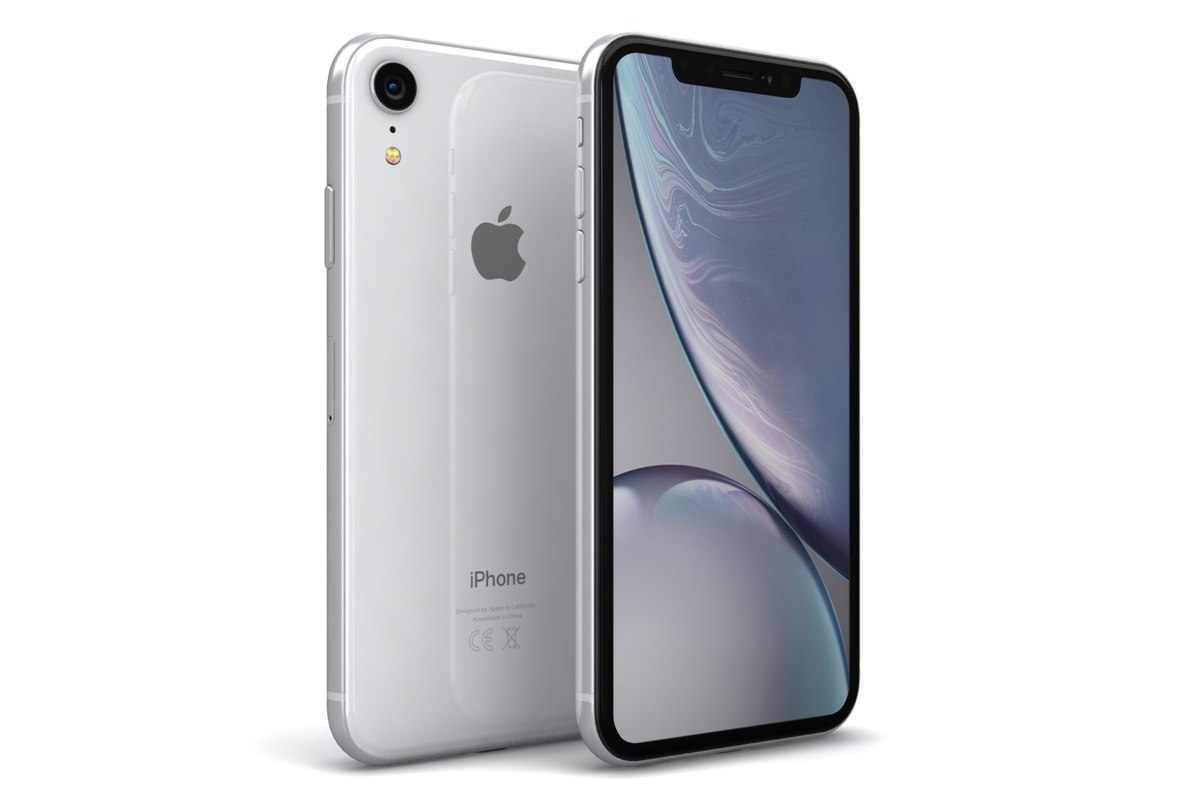 3D Apple Iphone Xr White Model