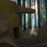 Fantasy Forest House Scene 1