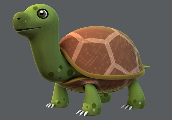 turtle cartoon animal 3D