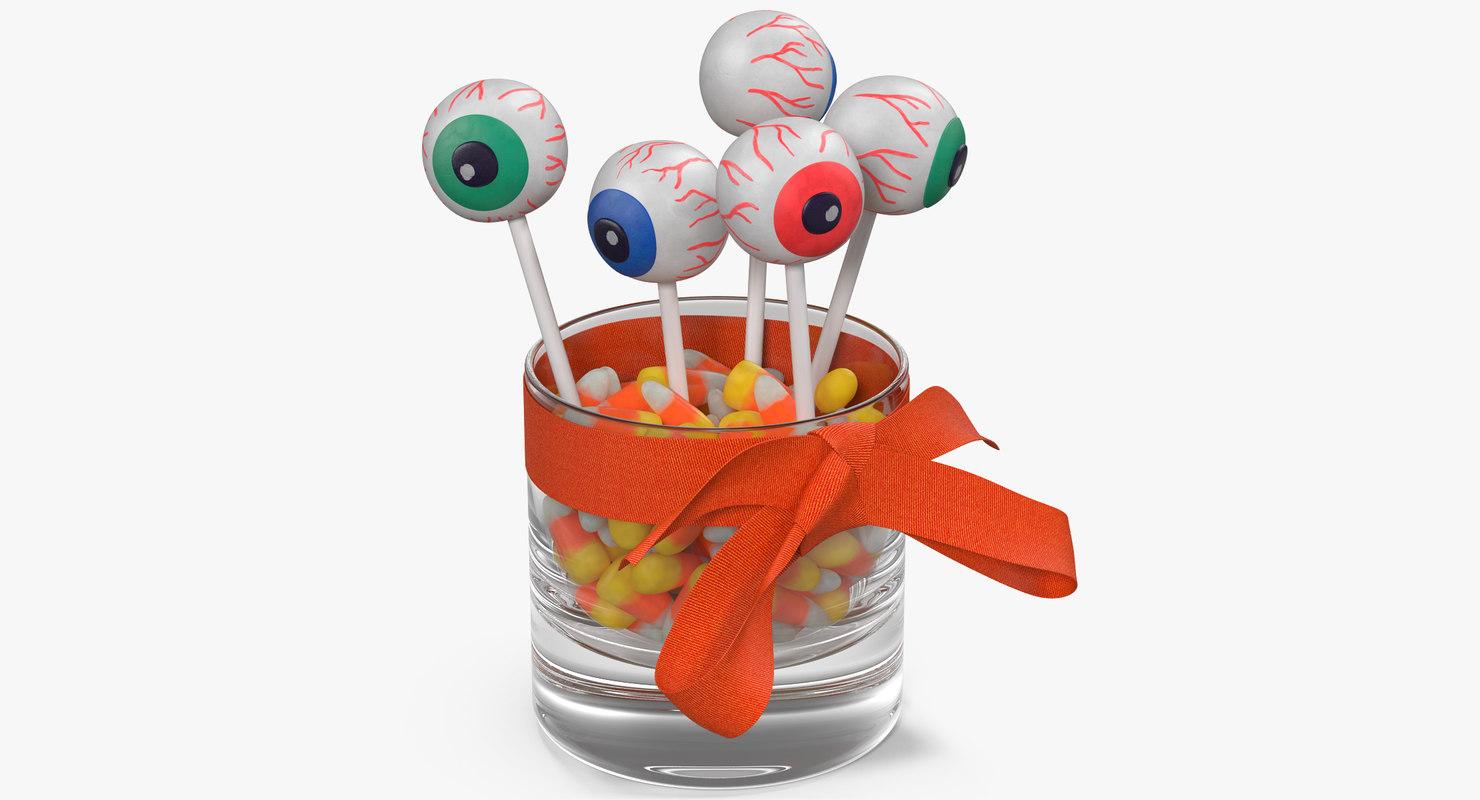 halloween candies 3 3D model