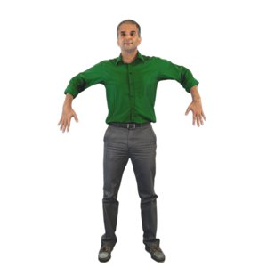 3D guy pose