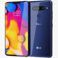 3D realistic lg v40 thinq model
