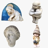 3D model statue bust