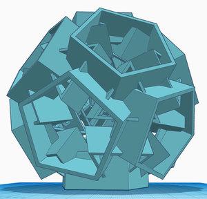 3D structure pentagon triangle