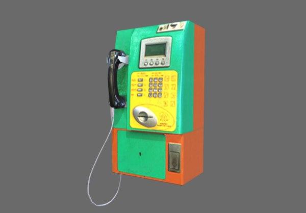 3D public telephone