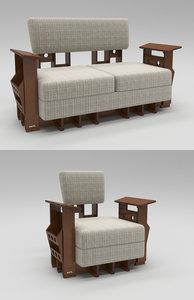 3D modern seating sofa