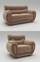 contemporary seating sofa 3D model
