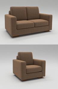 contemporary seating sofa 3D model