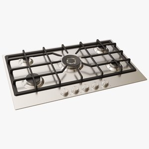 gas cooktop 3D
