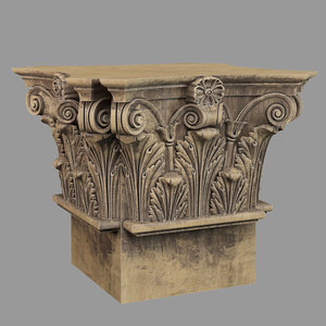 3D model capital column decor