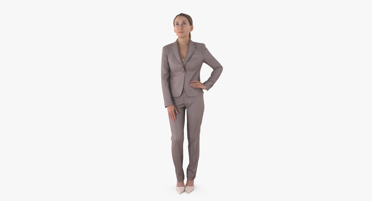 3D model business woman