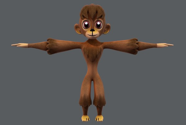 monkey v01 cartoon animal 3D model