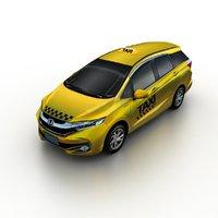 3D 2016 honda shuttle taxi