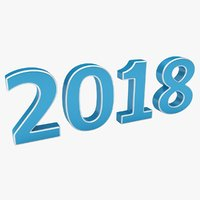 realistic new year 2018 model