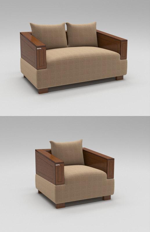 3D Single Sofa Model