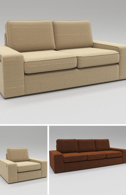Family seating sofa set 3D model - TurboSquid 1337564