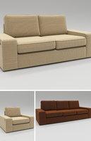 family seating sofa set 3D model