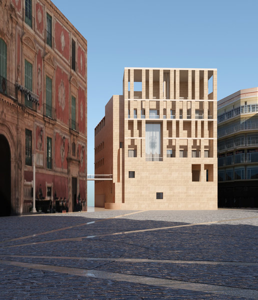 edificio ayuntamiento murcia moneo 3D model