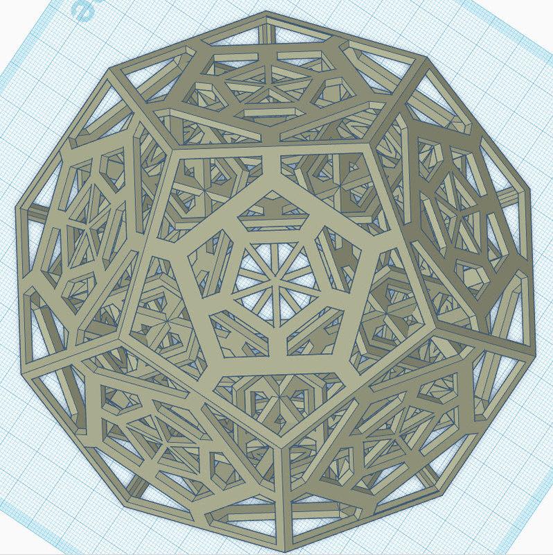 3D pentagon dodecahedrons model