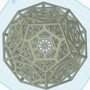 3D pentagon dodecahedrons model