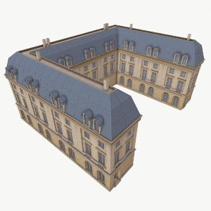 3D classical building model