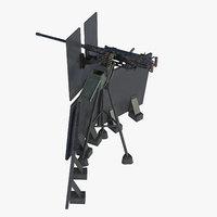 3D m2hb browning machine gun