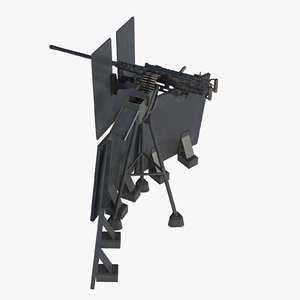 3D m2hb browning machine gun